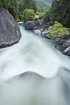 Run off from the Sierra Nevada in the upper North Fork of the Mokelumne River below Salt Springs Reservoir