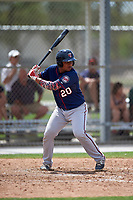 Minnesota Twins Robert Molina (20) during a minor league Spring Training game against the Baltimore Orioles on March 16, 2016 at CenturyLink Sports Complex in Fort Myers, Florida.  (Mike Janes/Four Seam Images)
