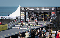 Team Poland at the race start in Knokke-Heist<br /> <br /> Mixed Relay TTT <br /> Team Time Trial from Knokke-Heist to Bruges (44.5km)<br /> <br /> UCI Road World Championships - Flanders Belgium 2021<br /> <br /> ©kramon