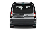 Straight rear view of 2021 Volkswagen Caddy Maxi-Life 5 Door Mini Mpv Rear View  stock images