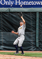 Trenton Thunder Right Fielder Daniel Brewer (8) during a game vs. the Erie Seawolves at Jerry Uht Park in Erie, Pennsylvania;  June 24, 2010.   Trenton defeated Erie 11-2.  Photo By Mike Janes/Four Seam Images