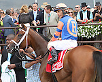 June 6 2015:  Coach Inge with John Velazquez win the 127th running of the Grade II Brooklyn Invitational for 4-year olds & up, going 1 1/2  mile at Belmont Park.  Trainer Todd Pletcher. Owner Repole Stable. Sue Kawczynski/ESW/CSM
