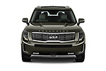 Car photography straight front view of a 2022 KIA Telluride SX-AWD 5 Door suv Front View