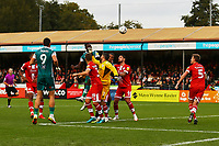 Isaac Olaofe of Sutton United scores the first goal with a header during Crawley Town vs Sutton United, Sky Bet EFL League 2 Football at The People's Pension Stadium on 16th October 2021