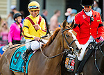MAY 15, 2015: Keen Pauline, ridden by Javier Castellano, wins the Black-Eyed Susan Stakes at Pimlico Race Course in Baltimore, Maryland. at Pimlico Race Course in Baltimore, Maryland. Scott Serio/ESW/Cal Sport Media