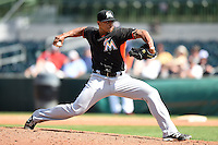 Miami Marlins pitcher A.J. Ramos (44) during a spring training game against the Houston Astros on March 21, 2014 at Osceola County Stadium in Kissimmee, Florida.  Miami defeated Houston 7-2.  (Mike Janes/Four Seam Images)