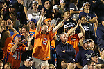 Boise State fans cheer for their team as they play against Nevada during the first half of an NCAA college football game in Reno, Nev, on Saturday, Oct. 4, 2014. (AP Photo/Cathleen Allison)
