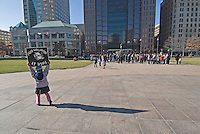 A child walks with an anti-abortion placard at a Pro-Life rally at the Statehouse in Columbus, Ohio, Monday, Nov. 23, 2006, on the 33rd anniversary of the Supreme Court Roe v. Wade decision.<br />
