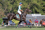 WELLINGTON, FL - FEBRUARY 19:  Sapo Caset of Tonkawa, reacts to his shot on goal. Scenes from the Ylvisaker Cup Final as Coca Cola 9 defeats Tonkawa 8 in overtime with a Golden Goal on a Penalty 2 by Julio Arellano, at the International Polo Club, Palm Beach on February 19, 2017 in Wellington, Florida. (Photo by Liz Lamont/Eclipse Sportswire/Getty Images)