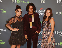 """BEVERLY HILLS, CA - AUGUST 4: (L-R) Cast members Devery Jacobs, D'Pharaoh Woon-A-Tai, and Paulina Alexis attend the FX Networks 2021 Summer Television Critics Association session for """"Reservation Dogs"""" at the Beverly Hilton on August 4, 2021 in Beverly Hills, California. (Photo by Frank Micelotta/FX/PictureGroup)"""