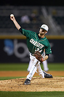 Charlotte 49ers relief pitcher Philip Perry (34) in action against the Georgia Bulldogs at BB&T Ballpark on March 8, 2016 in Charlotte, North Carolina. The 49ers defeated the Bulldogs 15-4. (Brian Westerholt/Four Seam Images)