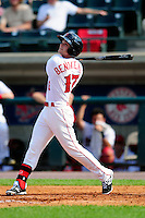 Lowell Spinners outfielder Andrew Benintendi (17) during a game versus the Tri-City ValleyCats at Lelacheur Park on August 16, 2015 in Lowell Massacusetts. (Ken Babbitt/Four Seam Images)