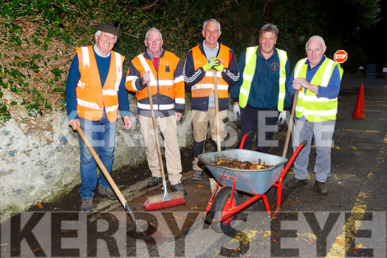Mick Spillane, PAt O'Brien, Eddie Sheehy, Tadhg Healy and Mike Myers cleaning up in Fossa on Tuesday evening