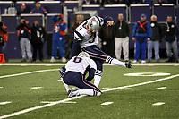 Kicker Stephen Gostkowski (Patriots)<br /> New York Giants vs. New England Patriots<br /> *** Local Caption *** Foto ist honorarpflichtig! zzgl. gesetzl. MwSt. Auf Anfrage in hoeherer Qualitaet/Aufloesung. Belegexemplar an: Marc Schueler, Am Ziegelfalltor 4, 64625 Bensheim, Tel. +49 (0) 6251 86 96 134, www.gameday-mediaservices.de. Email: marc.schueler@gameday-mediaservices.de, Bankverbindung: Volksbank Bergstrasse, Kto.: 151297, BLZ: 50960101