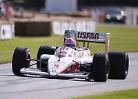 9th July 2021;  Goodwood  House, Chichester, England; Goodwood Festival of Speed; Day Two; Lorina McLaughlin drives an Arrows A10-3 Megatron in the Goodwood Hill Climb