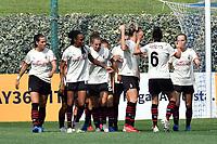 11th September 2021;  Mirko Fersini Stadium, Rome, Italy ; Serie A Womens championship football, Lazio versus Milan ; Lindsey Thomas of Milan celebrate after scoring her goal