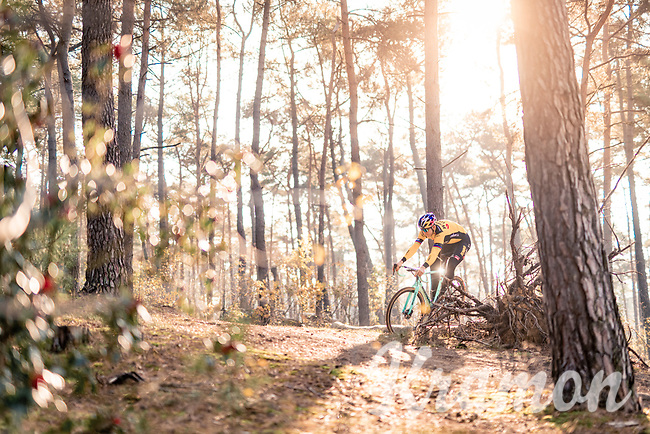 RedBull athlete Wout van Aert (BEL/Jumbo-Visma) training for the 2020/2021 cyclocross season after his break from his very successful 2020 road season <br /> <br /> november 2020<br /> <br /> ©kramon