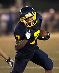 Waterbury, CT-07 September 2012-090712CM16-  Kennedy's Davon Humbles carries the ball during against Wilby during the second quarter at the City Jamboree Friday night at Municipal Stadium in Waterbury.    Christopher Massa Republican-American