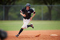 Edgewood College Eagles Brodie Engel (3) running the bases during the first game of a doubleheader against Western Connecticut Colonials on March 13, 2017 at the Lee County Player Development Complex in Fort Myers, Florida.  Edgewood defeated Western Connecticut 3-0.  (Mike Janes/Four Seam Images)