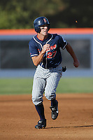 Danny Dorn of the Cal State Fullerton Titans runs the bases during a 2004 season game at Goodwin Field in Fullerton, California. (Larry Goren/Four Seam Images)