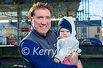 Enjoying a stroll in the Listowel town park on Thursday, l to r: Dan and baby Rachel Leahy.