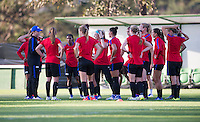 Belo Horizonte, Brazil - August 1, 2016: The USWNT trains in preparation for their opening group game at the 2016 Olympics in Brazil.