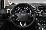Car pictures of steering wheel view of a 2015 Ford Grand C-Max Titanium 5 Door Mini Mpv Steering Wheel