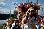 """People attend the traditional """"Silleteros"""" parade in Medellin"""