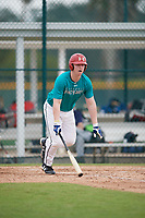 Brandon Troxler (68), from Rockwall, Texas, while playing for the Mariners during the Baseball Factory Pirate City Christmas Camp & Tournament on December 30, 2017 at Pirate City in Bradenton, Florida.  (Mike Janes/Four Seam Images)