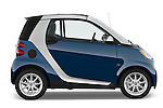Driver side profile view of a 2009 SmartForTwo Cabriolet .