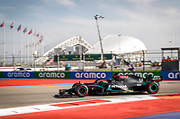 26th September 2020, Sochi, Russia; FIA Formula One Grand Prix of Russia, qualification;  44 Lewis Hamilton GBR, Mercedes-AMG Petronas Formula One Team takes pole for the race