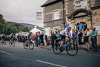 Geraint Thomas (GBR/SKY) rolling through town<br /> <br /> Racing in/around Lake District National Parc / Cumbria<br /> <br /> Stage 6: Barrow-in-Furness to Whinlatter Pass   (168km)<br /> 15th Ovo Energy Tour of Britain 2018
