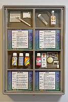 Pictured: Samples of different drugs on the wall. Thursday 19 September 2019<br /> Re: Barod Substance Misuse Centre in Swansea, Wales, UK.
