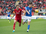 Aberdeen v St Johnstone…14.09.19   Pittodrie   SPFL<br />Matty Kennedy and Ryan Hedges<br />Picture by Graeme Hart.<br />Copyright Perthshire Picture Agency<br />Tel: 01738 623350  Mobile: 07990 594431