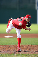 August 7 2008:  Pitcher Zach Pitts of the Batavia Muckdogs, Class-A affiliate of the St. Louis Cardinals, during a game at Dwyer Stadium in Batavia, NY.  Photo by:  Mike Janes/Four Seam Images