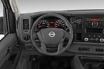 Car pictures of steering wheel view of a 2015 Nissan NV Cargo 2500 Standard Roof S V6 Door Cargo Van Steering Wheel