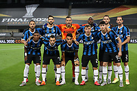21st August 2020, Rheinenergiestadion, Cologne, Germany; Europa League Cup final Sevilla versus Inter Milan;  Players of Inter Milan pose for a team photo prior to the UEFA Europa League Final