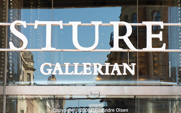 Sture Gallerian, a famous shopping mall in Stockholm, Sweden