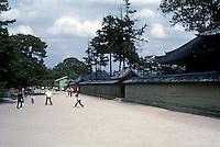 Nara: Horyuji Temple--children playing. Photo '82.