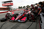 #55: Alex Palou,  Dale Coyne Racing with Team Goh Honda, pit stop