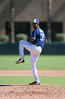 San Diego Padres relief pitcher Miguel Rondon (39) delivers a pitch during an Instructional League game against the Los Angeles Dodgers at Camelback Ranch on September 25, 2018 in Glendale, Arizona. (Zachary Lucy/Four Seam Images)