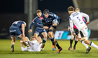 12th February 2021; AJ Bell Stadium, Salford, Lancashire, England; English Premiership Rugby, Sale Sharks versus Bath;  JP du Preez of Sale Sharks runs at the Bath line