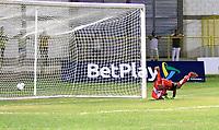 MAGANGUE-COLOMBIA, 04-03-2020: Real Cartagena y Atletico F.C. durante partido de vuelta de la 1ra ronda de clasificacion de la Copa BetPlay DIMAYOR 2020 en el estadio Diego Carvajal de la ciudad de Magangue. / Real Cartagena y Atletico F.C. during a match of the second leg of the 1st qualifying round of the BetPlay DIMAYOR Cup 2020  at the Diego Carvajal stadium in Magangue city. / Photos: VizzorImage / Juan Diaz / Cont.