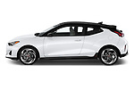 Car driver side profile view of a 2020 Hyundai Veloster Turbo Ultimate 5 Door Hatchback