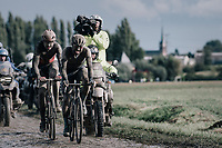 Tom Van Asbroeck (BEL/Israel Start-Up Nation) & Florian Vermeersch (BEL/Lotto Soudal)<br /> <br /> 118th Paris-Roubaix 2021 (1.UWT)<br /> One day race from Compiègne to Roubaix (FRA) (257.7km)<br /> <br /> ©kramon