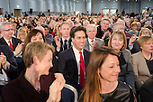 Ed Miliband MP and shadow cabinet members. Labour Party Special Conference on reform of its links to trade unions, ExCel Centre, London.