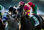 ARCADIA, CA - SEPTEMBER 30: Avenge #5 ridden by Flavien Prat wins the Rodeo Drive Stakes at Santa Anita Park on September 30, 2017 in Arcadia, California. (Photo by Alex Evers/Eclipse Sportswire/Getty Images)