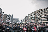 massive crowd at the start in Deinze (BEL) for the 81st Gent-Wevelgem in Flanders Fields (1.UWT)<br /> <br /> Deinze > Wevelgem (251km)