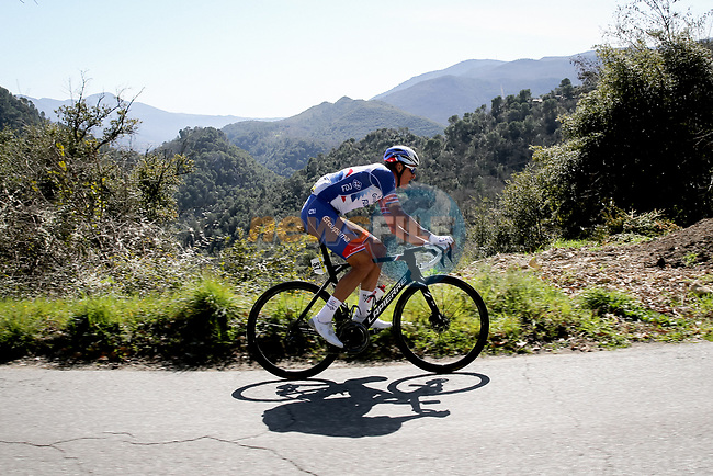 Ramon Sinkeldam (NED) Groupama–FDJ during Stage 7 of Paris-Nice 2021, running 119.2km from Le Broc to Valdeblore La Colmiane, France. 13th March 2021.<br /> Picture: ASO/Fabien Boukla | Cyclefile<br /> <br /> All photos usage must carry mandatory copyright credit (© Cyclefile | ASO/Fabien Boukla)