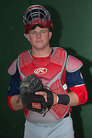 Hagerstown Suns catcher Jakson Reetz (21) poses for a photo prior to the game against the Kannapolis Intimidators at Kannapolis Intimidators Stadium on May 6, 2016 in Kannapolis, North Carolina.  The Intimidators defeated the Suns 5-3.  (Brian Westerholt/Four Seam Images)